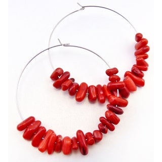 Pretty Little Style Coral Hoop Earrings