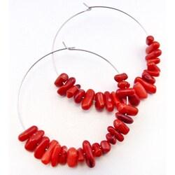 Pretty Little Style Coral Hoop Earrings