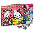 Hello Kitty Children's Four Wood Puzzles in Wooden Storage Box