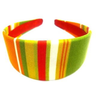 Crawford Corner Shop Red Orange Green Striped Headband