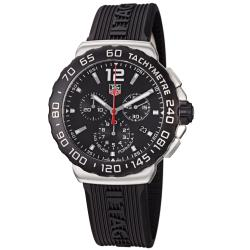 Tag Heuer Men's CAU1110.FT6024 'Formula 1' Black Dial Black Rubber Strap Quartz Watch