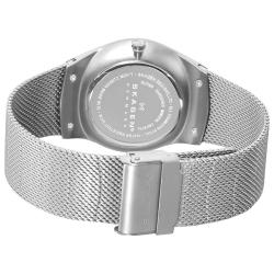Skagen Men's 916XLSSS 'Steel' Silver Dial Stainless Steel Mesh Bracelet Watch
