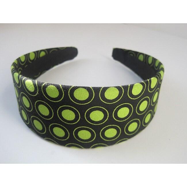 Crawford Corner Shop Black and Green Circles Headband