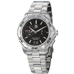 Tag Heuer Men's 'Aquaracer' Black Dial Stainless Steel Alarm Watch