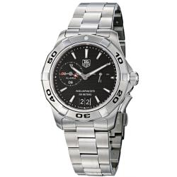 Tag Heuer Men's WAP111Z.BA0831 'Aquaracer' Black Dial Stainless Steel Alarm Watch