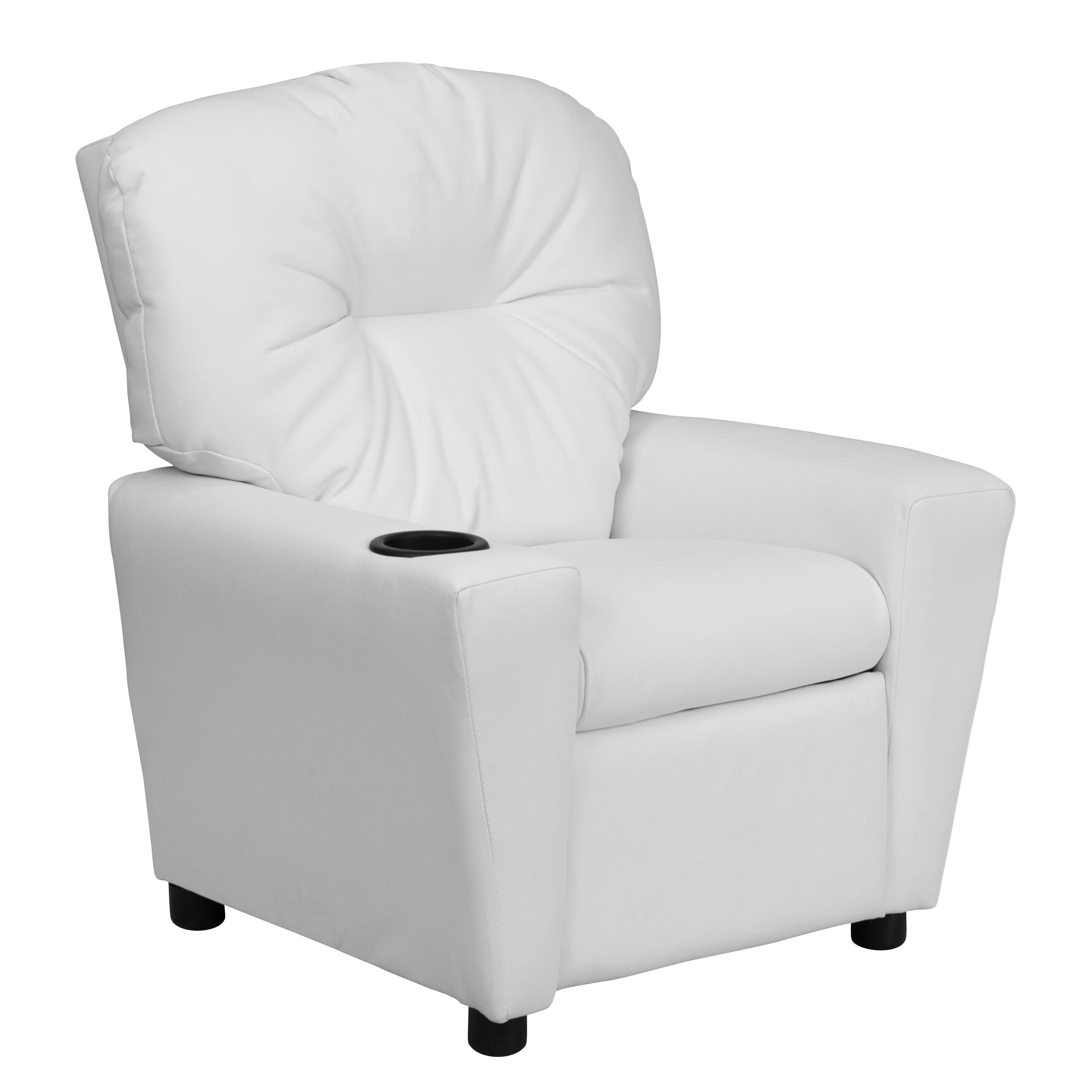 Flash Furniture Contemporary White Vinyl Kids Recliner
