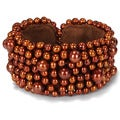Miadora Brown Freshwater Pearl Stretch Bracelet (5.5-8 mm)
