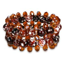 Miadora 350ct TGW Agate and Crystal Stretch Bracelet
