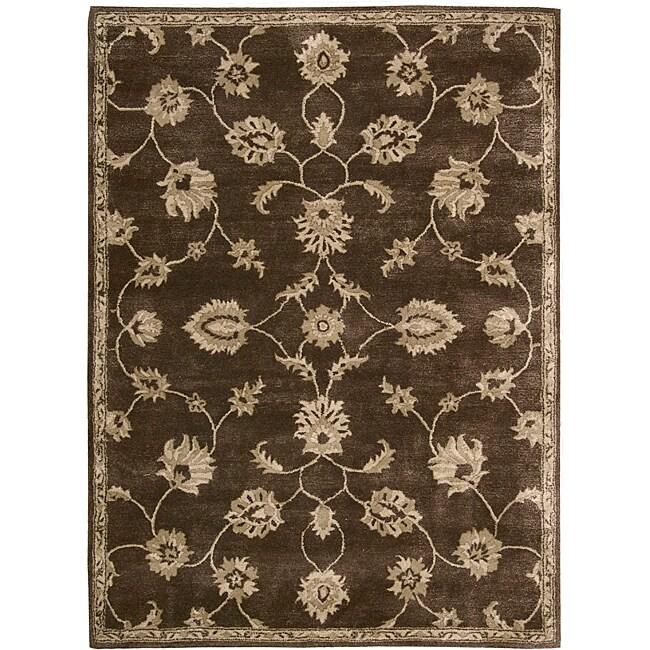 Nourison Hand-tufted Superlative Brown Rug (8' x 11')