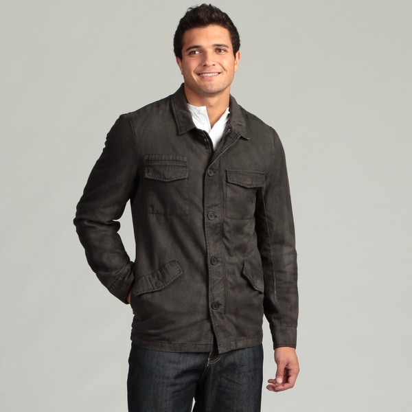 Black Hearts Men's Charcoal 6-pocket Jacket