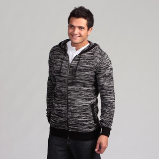 Black Hearts Men's Charcoal Hooded Zip-up Hoodie