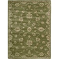 Nourison Hand-tufted Superlative Green Rug (5'6 x 7'5)