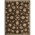 Nourison Hand-tufted Superlative Brown Rug (5'6 x 7'5)