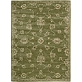 Nourison Hand-tufted Superlative Green Rug (3'6 x 5'6)