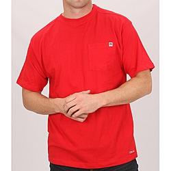 Farmall IH Men's Red Cotton Short Sleeve Pocket T-shirt