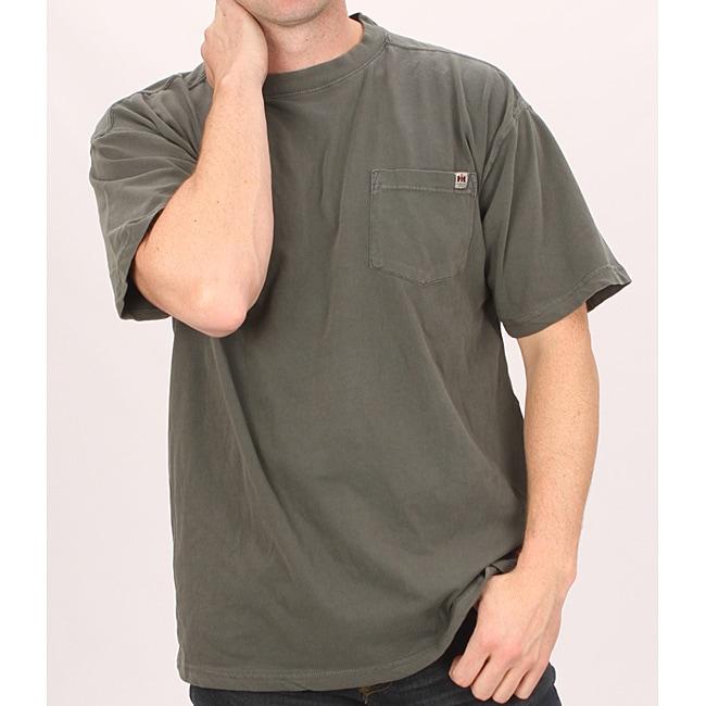 Farmall IH Men's Black Cotton Pocket T-shirt
