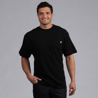 Farmall IH Men's Black Cotton Crew-Neck Pocket T-shirt