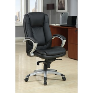 Furniture of America Luxurious Adjustable Padded Leatherette Office Chair