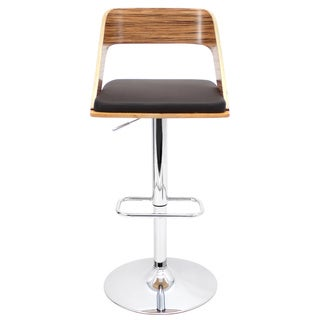LumiSource Vino Zebra Bent Wood Barstool