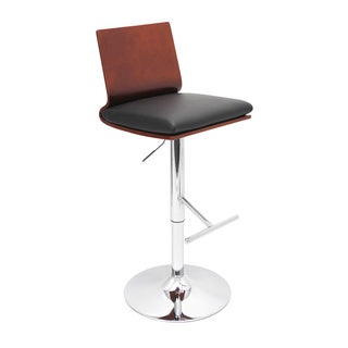 LumiSource Koko Cherry Bent Wood Adjustable Barstool