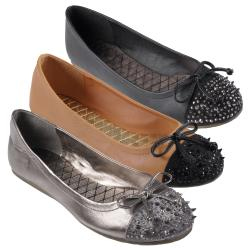 Journee Collection Women's 'Breeze-20' Bow Ballet Flats