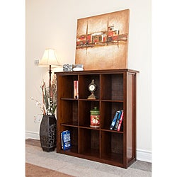 Stratford Auburn Brown 9 Cube Bookcase & Storage Unit