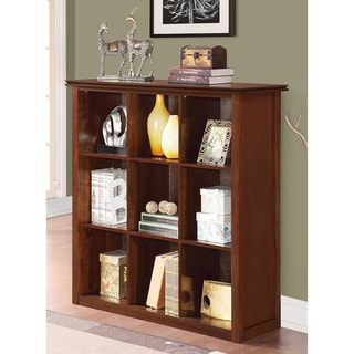 Stratford Auburn Brown 9 Cube Bookcase & Storage Unit