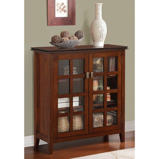Stratford Auburn Brown Medium Storage Media Cabinet & Buffet