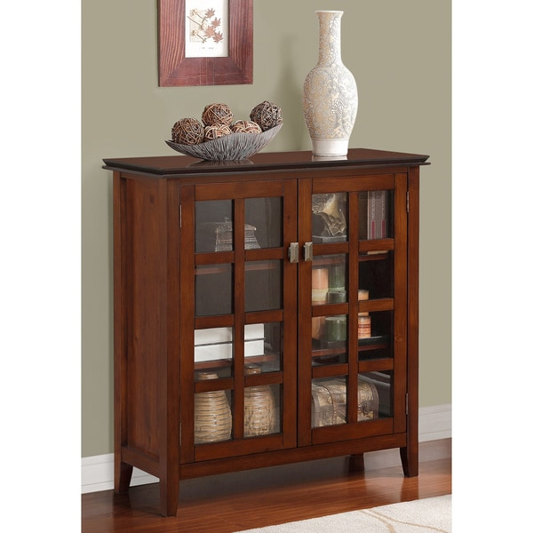 Stratford Console Table WYNDENHALL Essex Coffee Brown Medium Storage Media Cabinet & Buffet