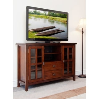 Stratford Auburn Brown Tall TV Stand