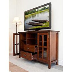 Stratford Auburn Brown TV Media Stand