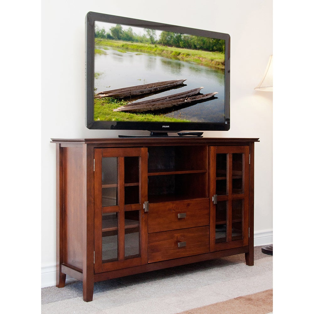 Stratford Console Table WYNDENHALL Stratford Collection Tall TV Stand - Overstock Shopping ...