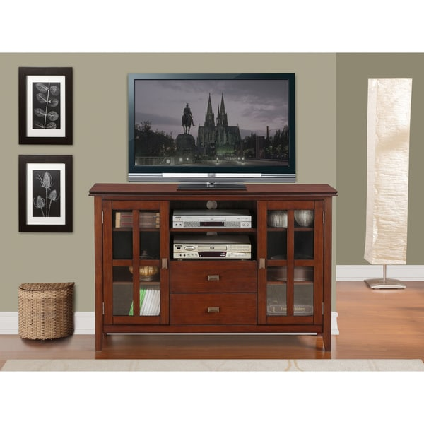 Wyndenhall Stratford Tall Tv Media Stand Overstock