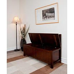 Stratford Auburn Brown Entryway Storage Bench