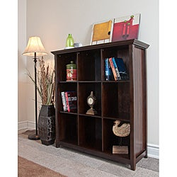 Normandy Tobacco Brown 9 Cube Bookcase & Storage Unit