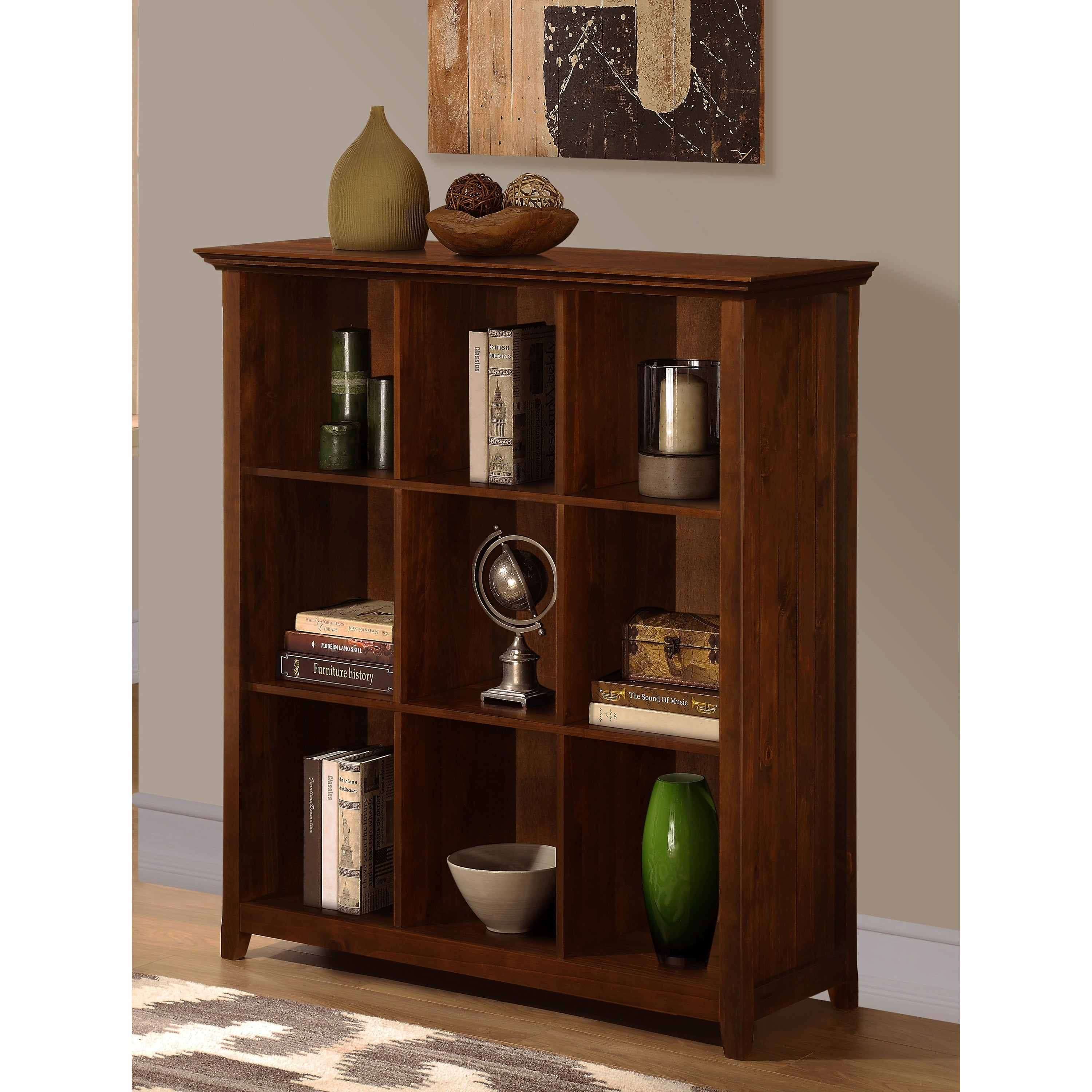 wyndenhall normandy 9 cube bookcase storage unit. Black Bedroom Furniture Sets. Home Design Ideas