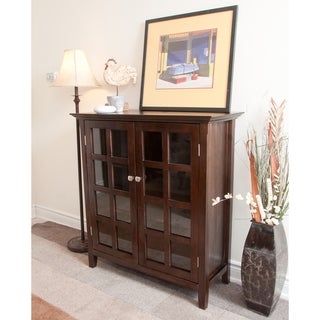 Normandy Tobacco Brown Medium Storage Media Cabinet & Buffet