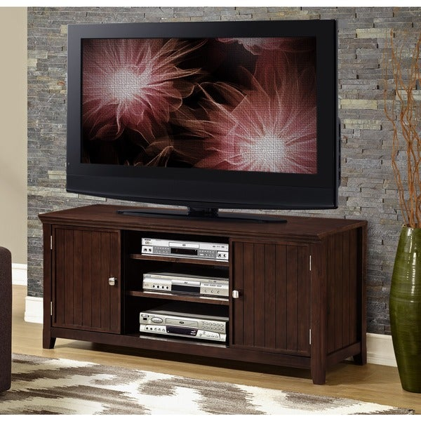 WYNDENHALL Normandy Tobacco Brown TV Stand