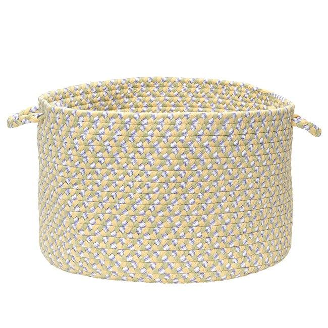 Pinwheel Yellow Colored Basket