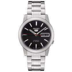 Seiko Men's SNKE53K1 Automatic 5 Black Dial Silvertone Watch