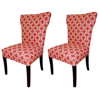 Bella Red Wing Back Chairs (Set of 2)