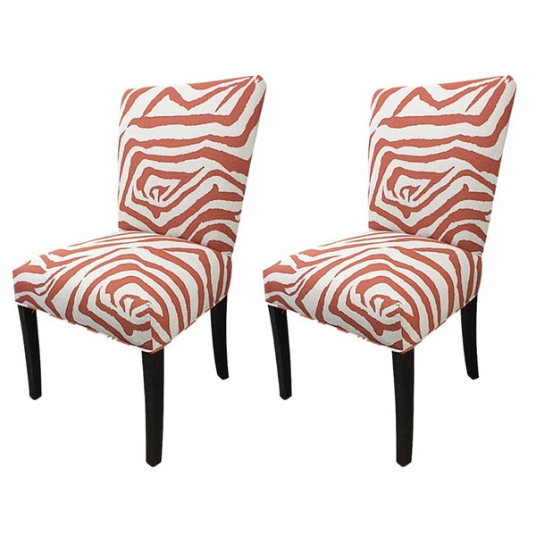 Julia Zebra Fan Back Chairs (Set of 2)