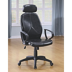 Black Faux Leather/PU Office Chair