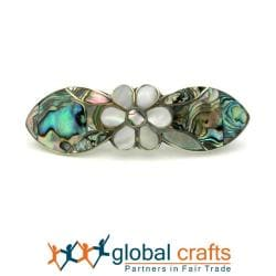 Mother of Pearl Inlaid Daisy Hair Barrette (Mexico)