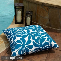 Penelope Blue/ White 28-inch Square Outdoor Floor Pillow