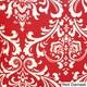 Penelope Red 28-inch Square Indoor/ Outdoor Floor Pillow