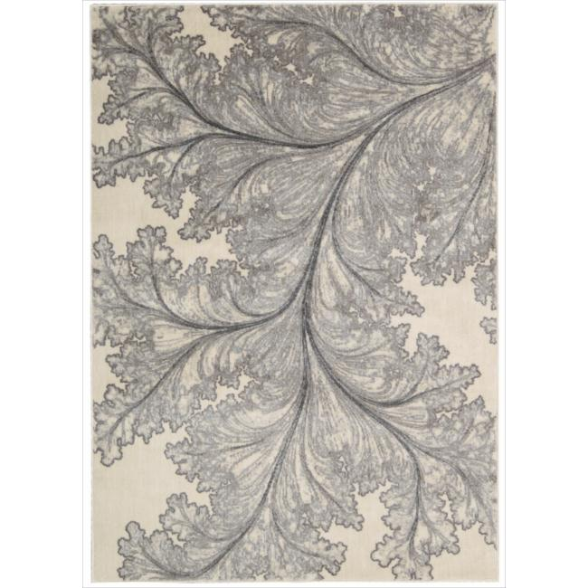 "Nourison Utopia Ivory Abstract Area Rug (9'6"" x 13')"