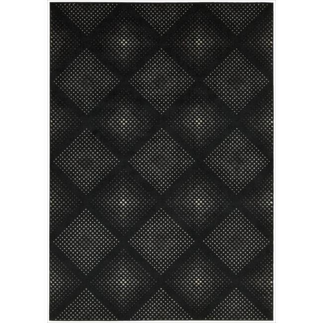Nourison Utopia Black Abstract Rug (9'6 x 13')