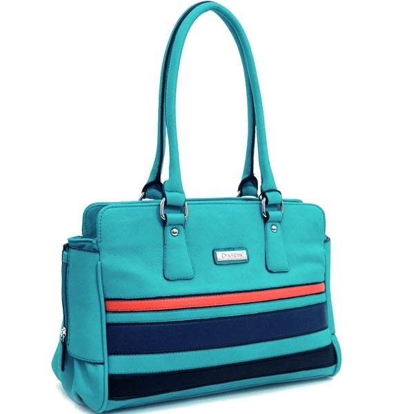 Dasein Multicolor Striped Shoulder Bag