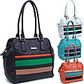Dasein Multicolor Striped Tall Shoulder Bag